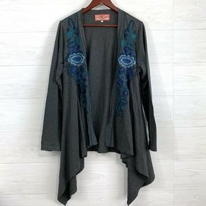 Johnny Was JWLA Heavy Embroidered Floral Cardigan